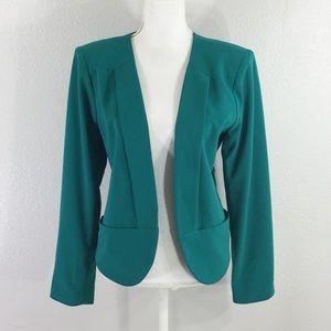 Bebe green open blazer